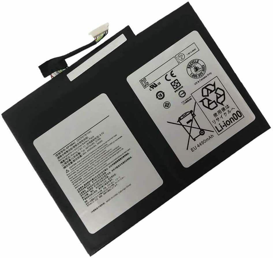akut AP16B4J KT.00204.003 Acer Switch Alpha 12 SA5-271-75UX(yhteensopiva)